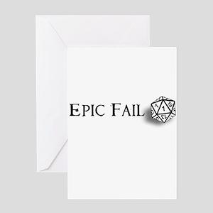 Epic Fail d20 Greeting Card