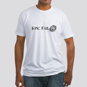 Epic Fail d20 Fitted T-Shirt