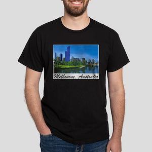 Melbourne Skyline Painting Ash Grey T-Shirt
