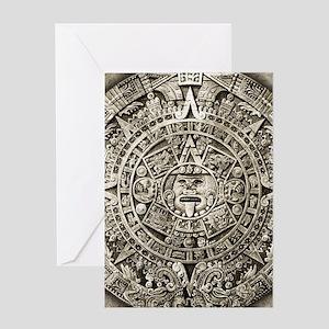 aztec-calendar_12-5x18v2 Greeting Cards