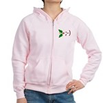 Wink Emoticon - Mistletoe Women's Zip Hoodie
