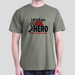 Never Knew A Hero 2 MELANOMA (Aunt) Dark T-Shirt