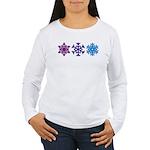 Snowflakes Women's Long Sleeve T-Shirt