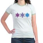 Snowflakes Jr. Ringer T-Shirt