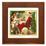 Santa New Year Framed Tile