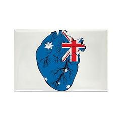 Heart Australia Rectangle Magnet