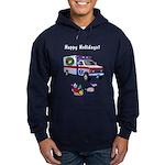 EMS Happy Holidays Greetings Hoodie (dark)