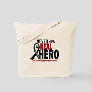Never Knew A Hero 2 MELANOMA (Nephew) Tote Bag