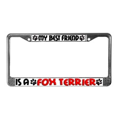 Fox Terrier License Plate Frame
