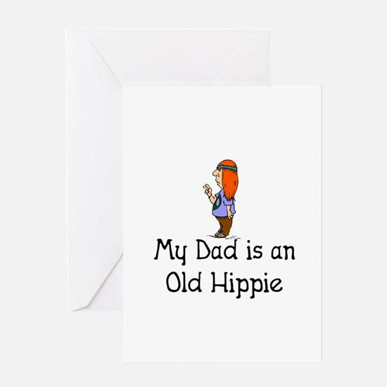 Old Hippie Greeting Card