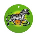 Zack African Zebra Ornament (Round)