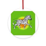 African Zebra Ornament (Round)