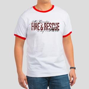 Grandpa My Hero - Fire & Rescue Ringer T