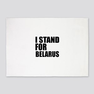 I Stand For Belarus 5'x7'Area Rug