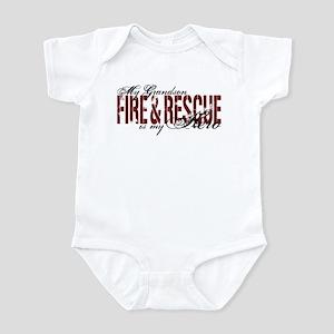 Grandson My Hero - Fire & Rescue Infant Bodysuit