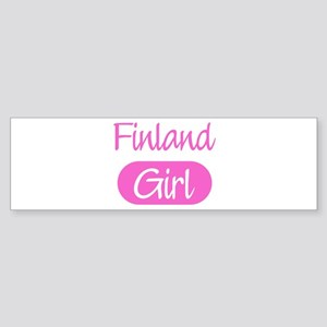 Finland girl Bumper Sticker