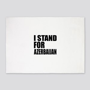 I Stand For Azerbaijan 5'x7'Area Rug
