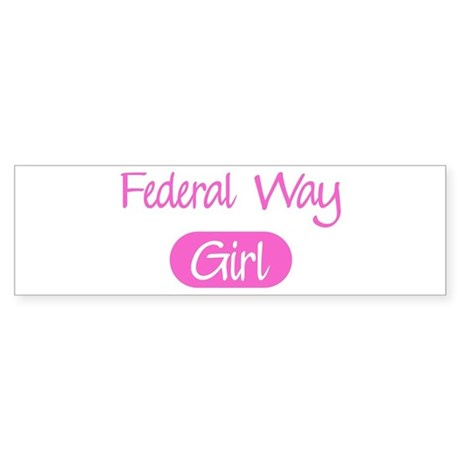 Federal Way girl Bumper Sticker