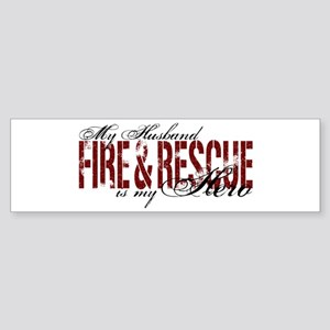 Husband My Hero - Fire & Resue Bumper Sticker