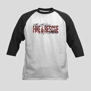 Husband My Hero - Fire & Resue Kids Baseball Jerse