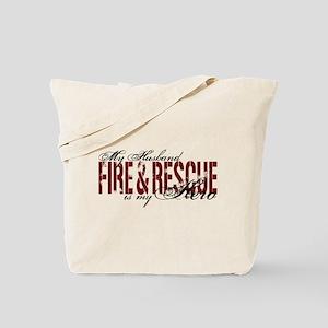 Husband My Hero - Fire & Resue Tote Bag