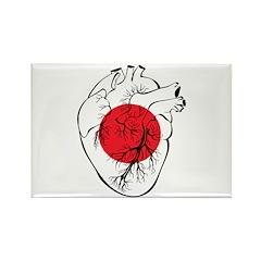 Heart Japan Rectangle Magnet