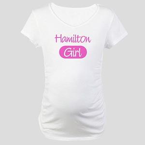 Hamilton girl Maternity T-Shirt