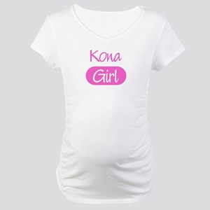 Kona girl Maternity T-Shirt