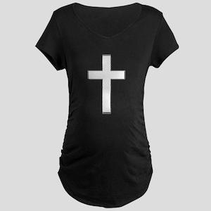 Simple Cross Maternity Dark T-Shirt