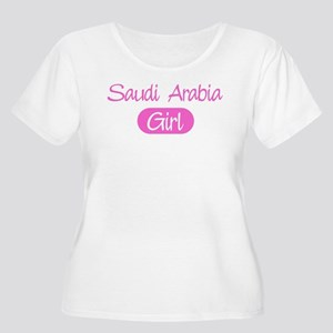 Saudi Arabia girl Women's Plus Size Scoop Neck T-S