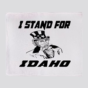 I Stand For Idaho Throw Blanket