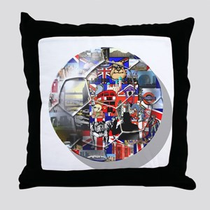 British Culture Throw Pillow
