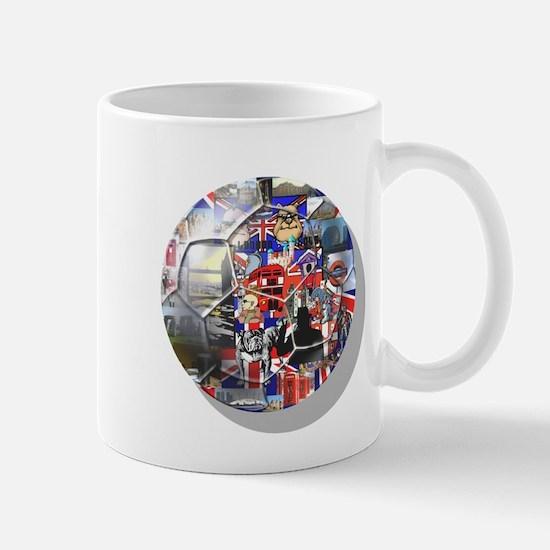 British Culture Football Mug