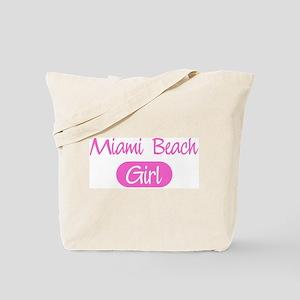 Miami Beach girl Tote Bag