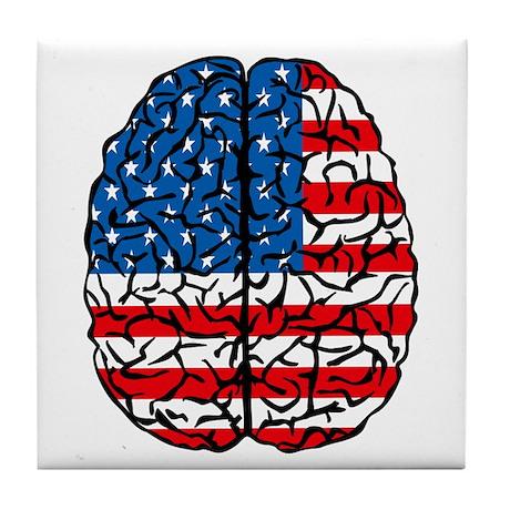 Brain USA Tile Coaster