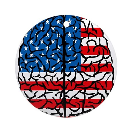 Brain USA Ornament (Round)