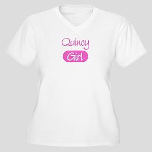 Quincy girl Women's Plus Size V-Neck T-Shirt