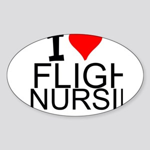 I Love Flight Nursing Sticker