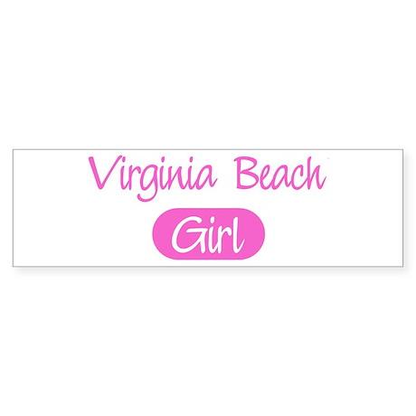Virginia Beach girl Bumper Sticker