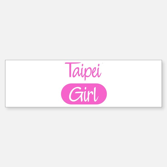 Taipei girl Bumper Bumper Bumper Sticker