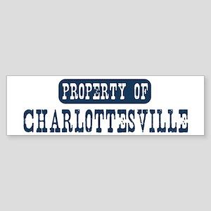 Property of Charlottesville Bumper Sticker
