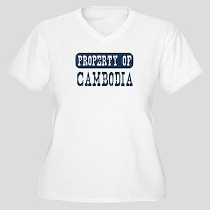 Property of Cambodia Women's Plus Size V-Neck T-Sh