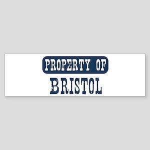 Property of Bristol Bumper Sticker