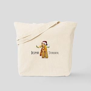 Irish Terrier Santa Tote Bag