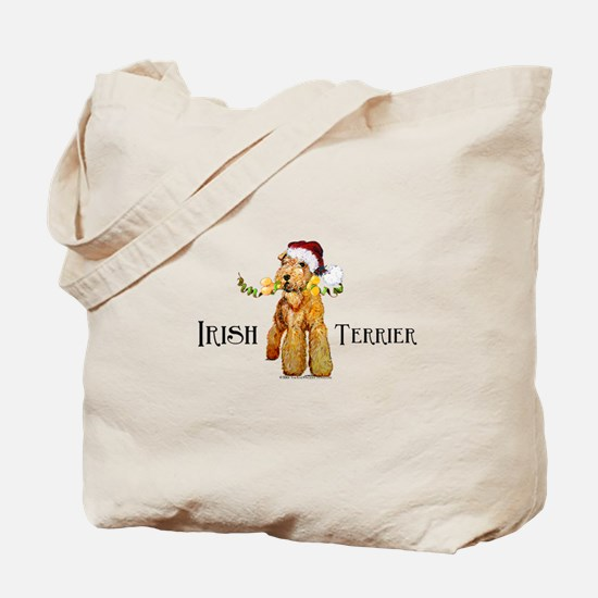 Irish Terrier Santa Tote Bag