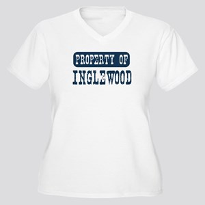 Property of Inglewood Women's Plus Size V-Neck T-S