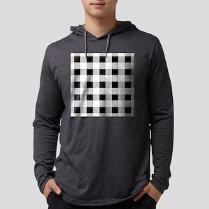 farmhouse black white plaid Long Sleeve T-Shirt