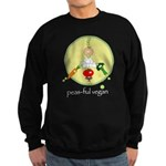 peas-ful vegan Sweatshirt (dark)