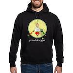 peas-ful vegan Hoodie (dark)