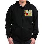 Veggie Friendly Zip Hoodie (dark)